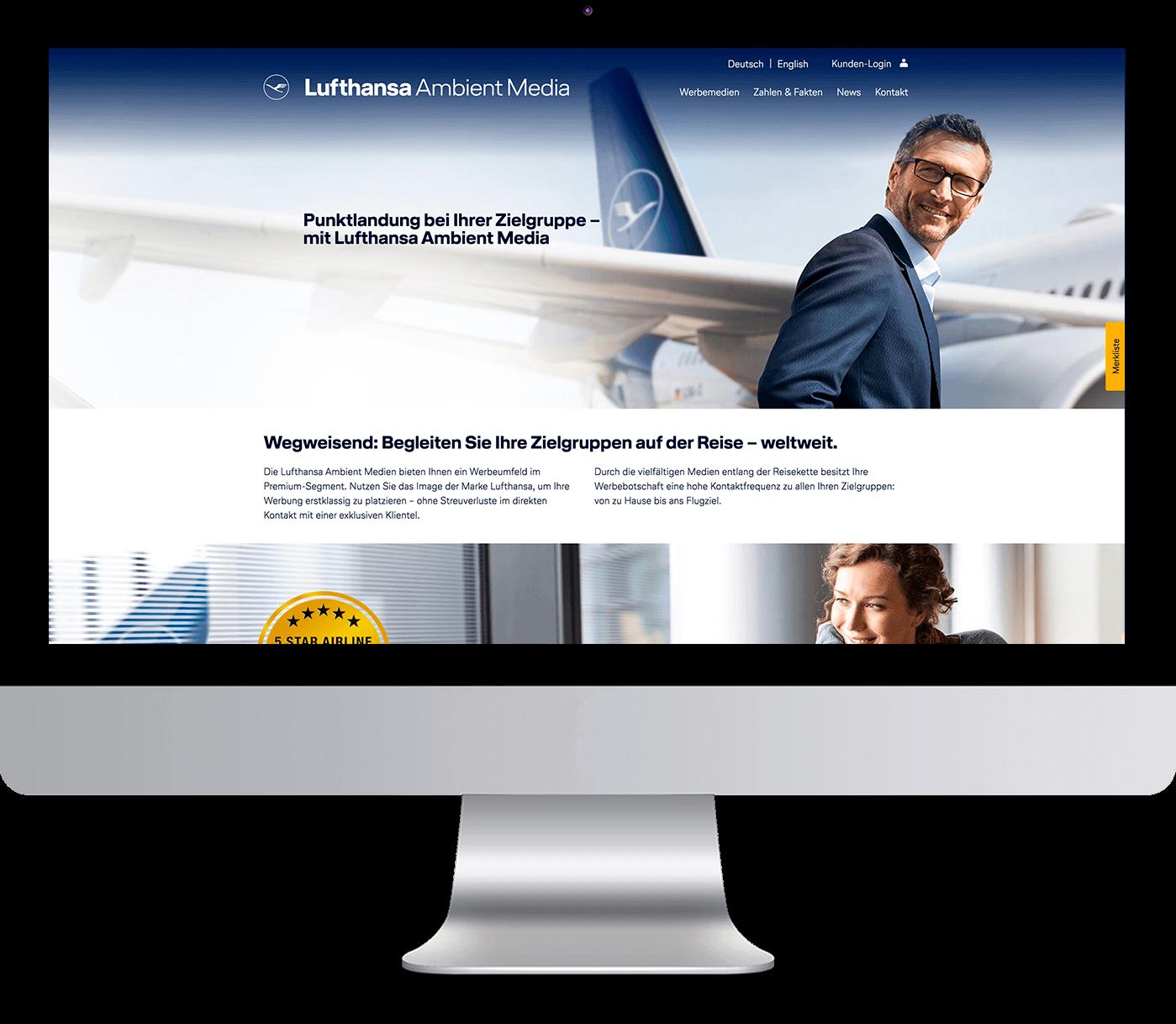 REINGOLD realisierte für Lufthansa Ambient Media das umfangreiche CRM-Frontend in Form eines komfortablen Buchungsportals.