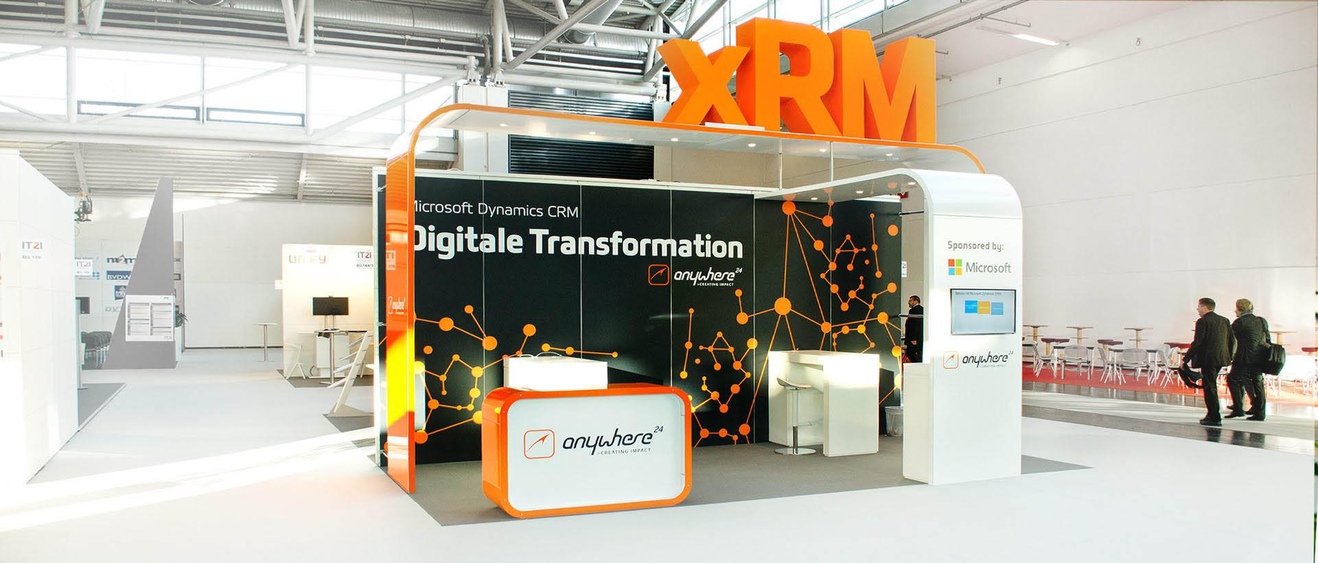 Für Anywhere.24, den renommierten xRM- und CRM-Spezialisten, konzipierte und realisierte REINGOLD den kompletten Messestand für die IT2Industry in München.