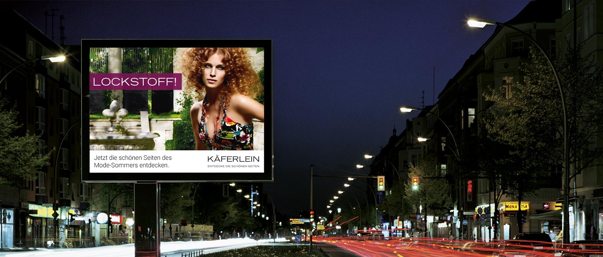 Für KÄFERLEIN konzipierte und realisierte REINGOLD die komplette Werbung.