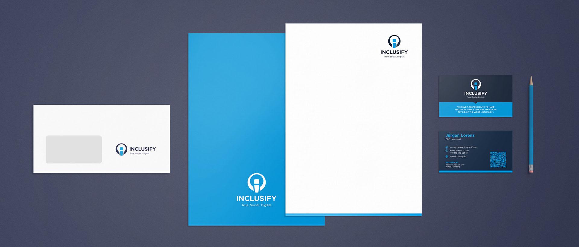 Für die Inclusify AG konzipiert und realisiert REINGOLD den kompletten Werbeauftritt.