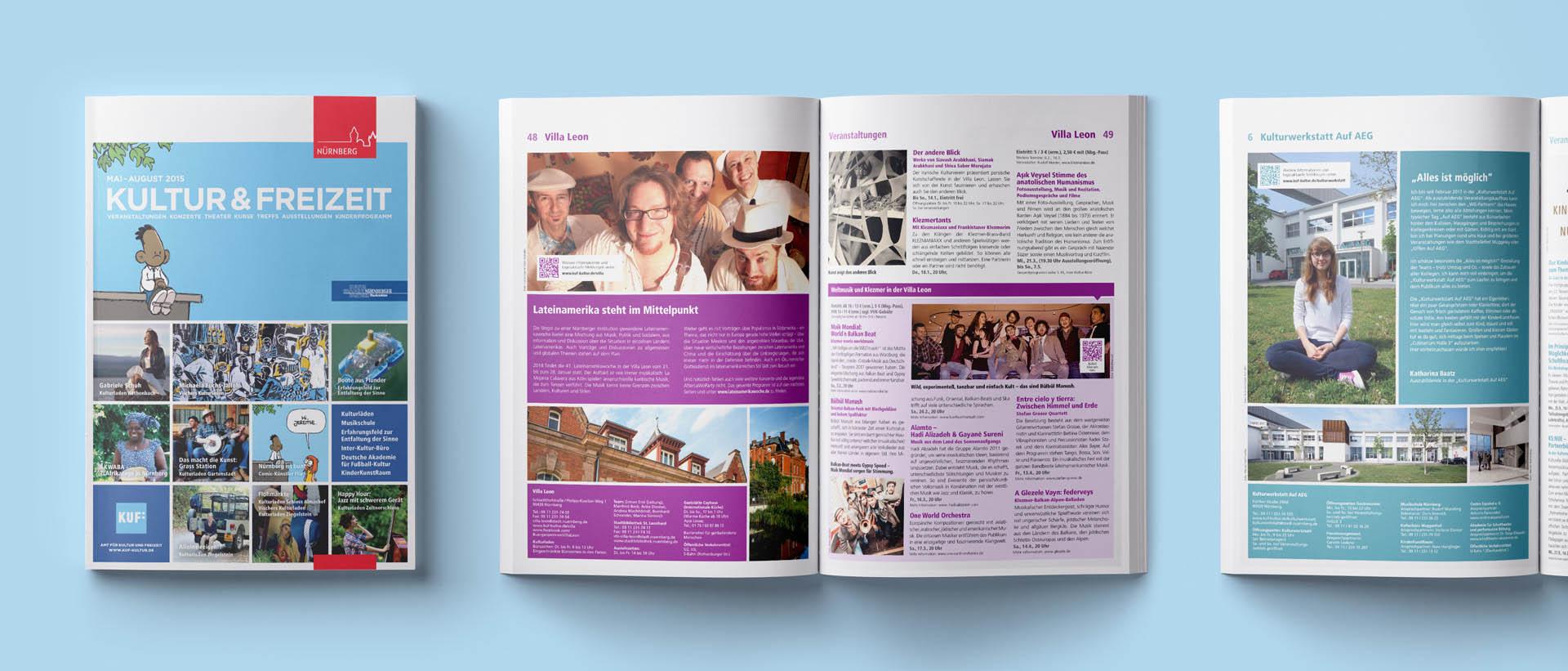 Für das Amt für Kultur und Freizeit der Stadt Nürnberg konzipiert und realisiert REINGOLD das KUF-Magazin.