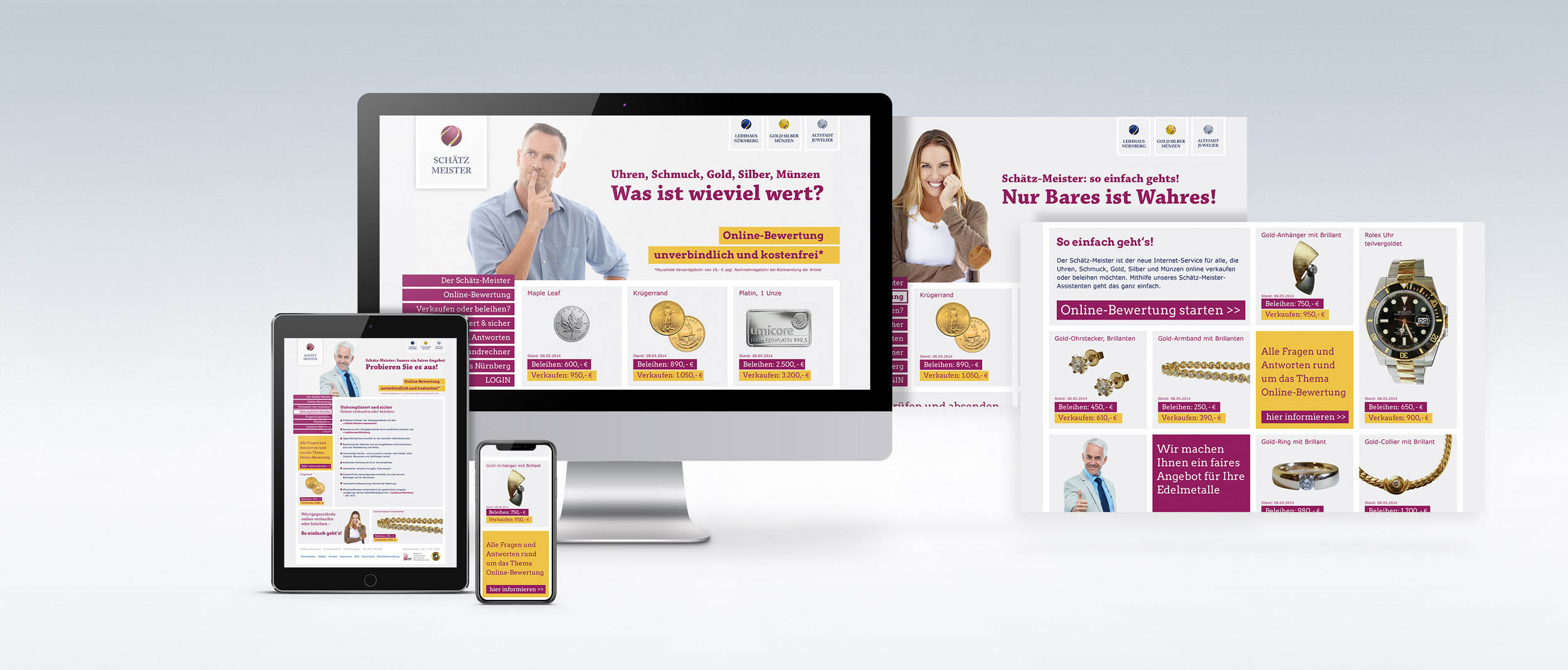 Für den Schätzmeister konzipierte und realisierte REINGOLD die komplette Werbung.